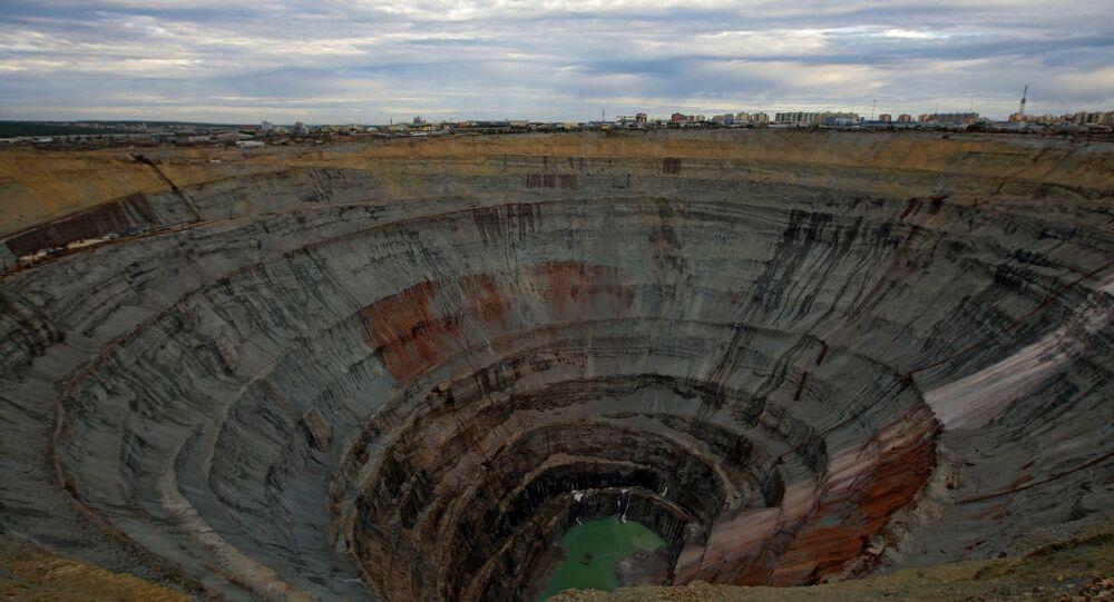 Mine de diamants en Iakoutie. Image d'illustration