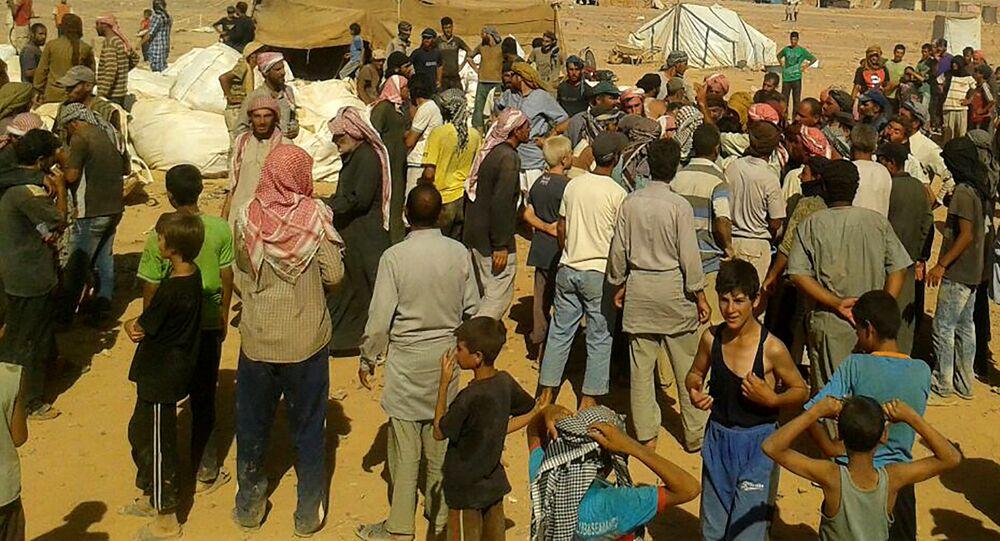 Les réfugiés du camp syrien d'el-Rukban