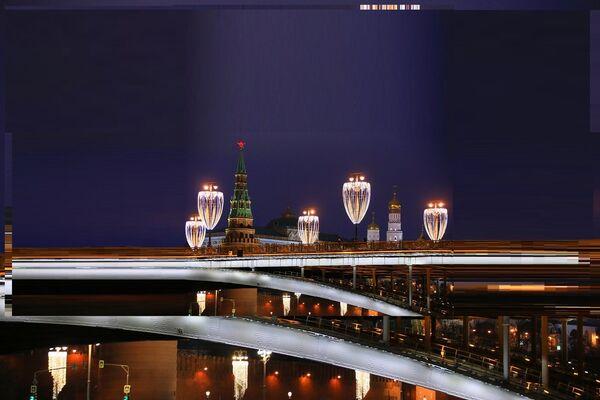 Новогодняя иллюминация в Москве - Sputnik France