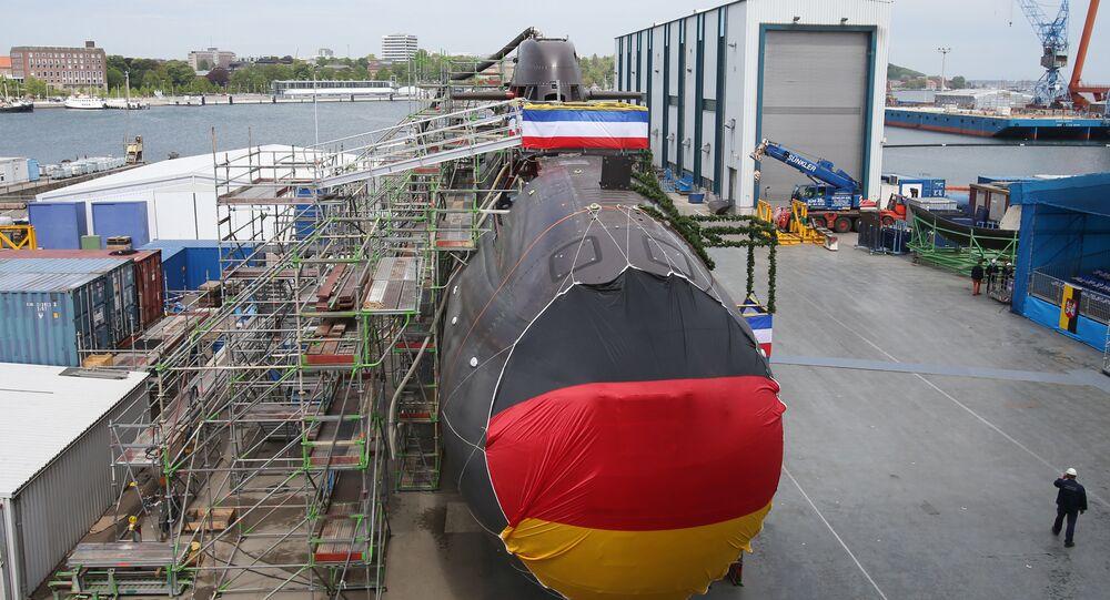 Le sous-marin U36 de type 212A à Kiel