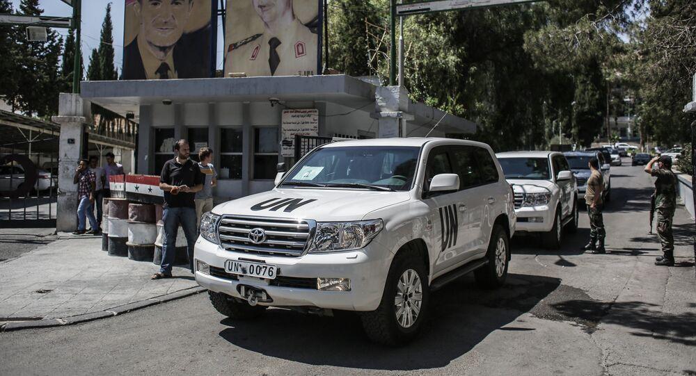 Inspecteurs de l'ONU en Syrie. Photo d'archive
