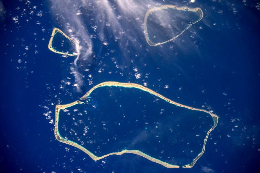 Îles Carolines photographiées depuis l'ISS
