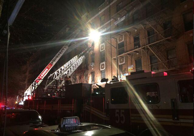 Incendie dans le Bronx