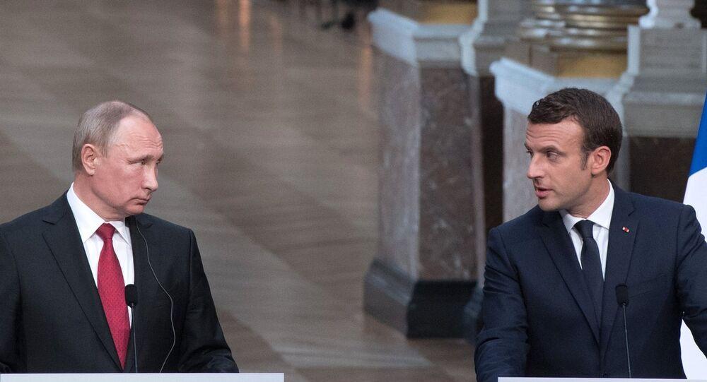 La rencontre entre les Présidents russe et français à Versailles, le 29 mai 2017