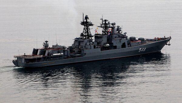 Le grand bâtiment de lutte anti-sous-marine Admiral Panteleev - Sputnik France
