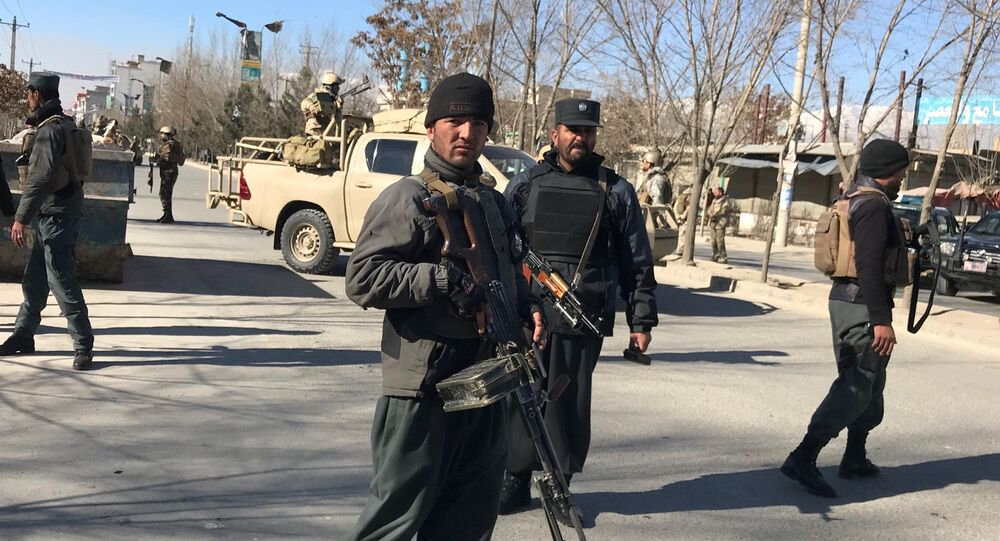 Policiers afghans
