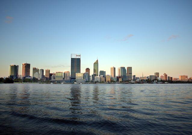 Une vue de Perth, l'Australie
