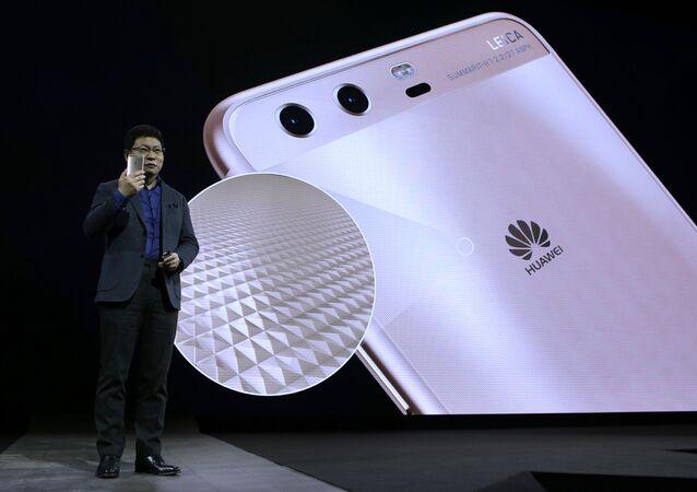 La présentaton d'un smartphone d'Huawei