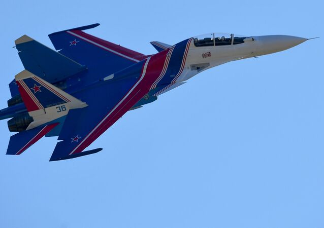 Chasseur multirôle russe Su-30SM. Photo d'archive