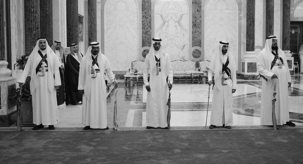 Dans le palais royal de Riyad. Photo d'archive