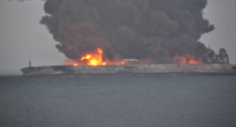 collision des navires au large de la Chine