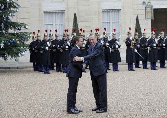 Emmanuel Macron et  le Président turc, M.Erdogan