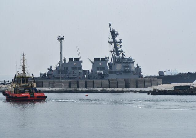 Le destroyer américain USS Carney est arrivé au port d'Odessa
