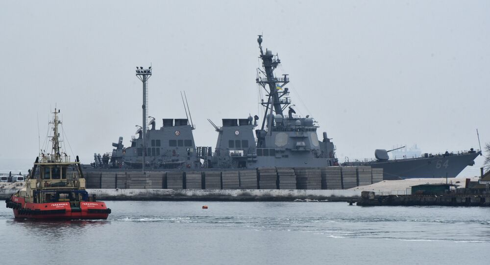 Le destroyer américain USS Carney