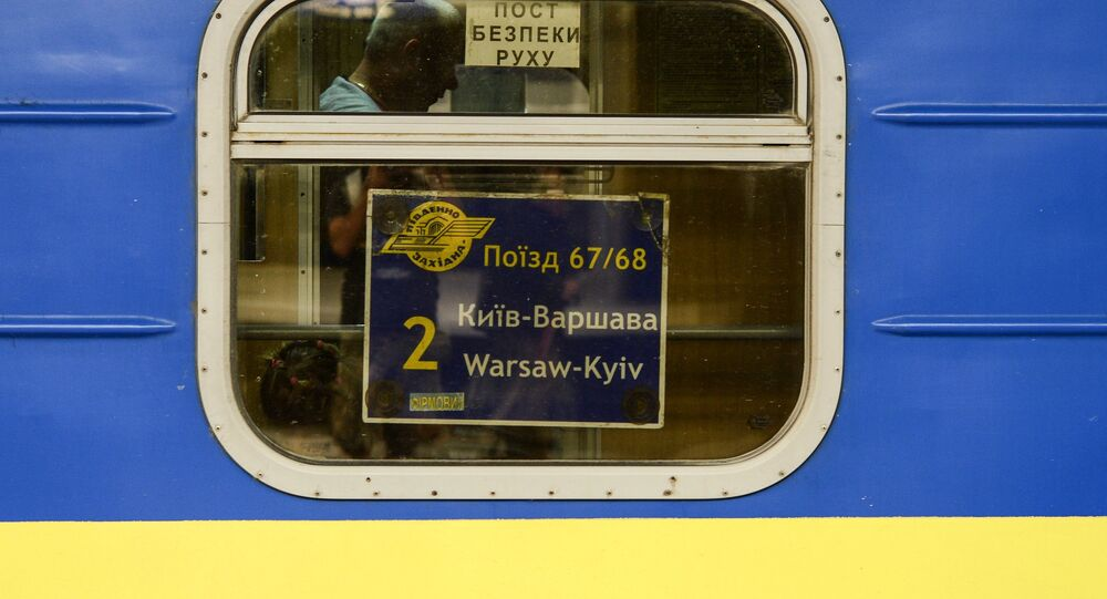 Un train Kiev-Varsovie