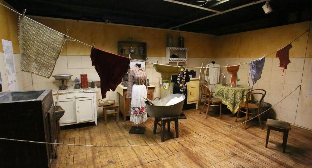 Un appartement communautaire. Exposition