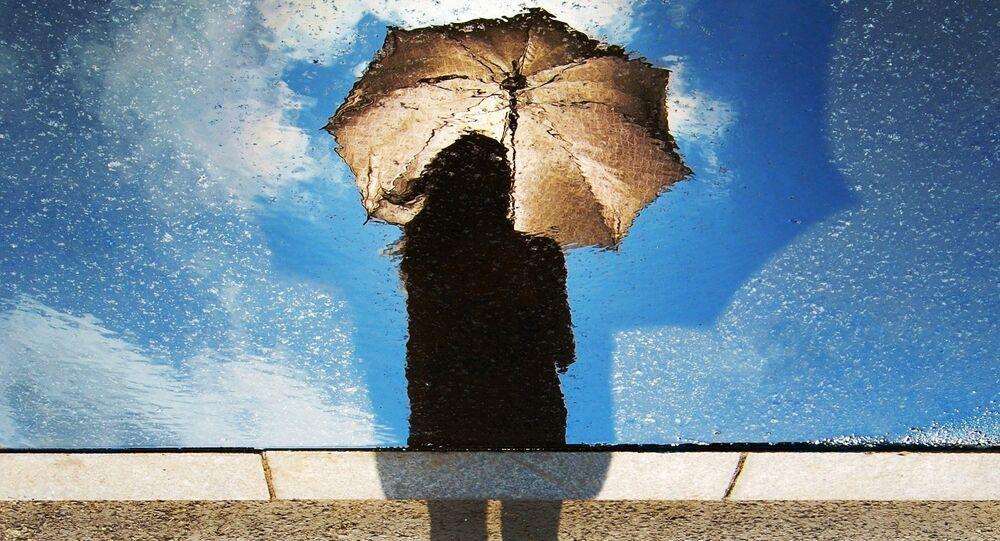 Une silhouette d'une femme
