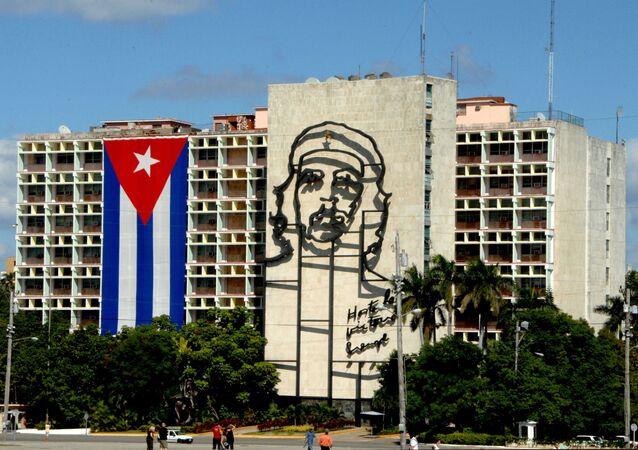 Drapeau cubain à La Havane
