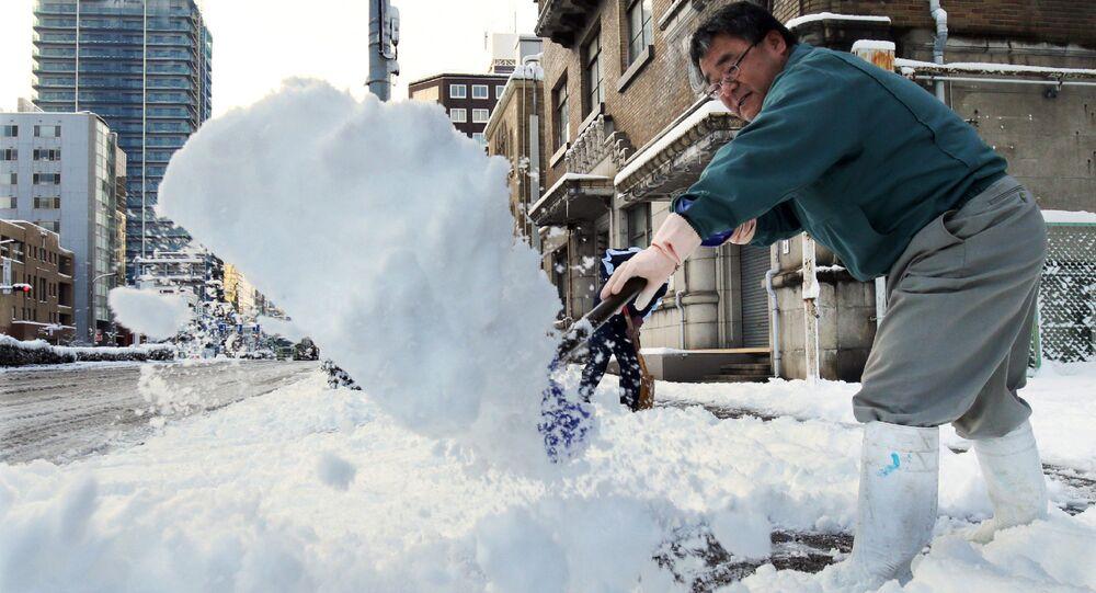 Chutes de neige au Japon