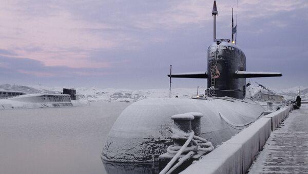 Un sous-marin nucléaire du projet 949A Anteï - Sputnik France