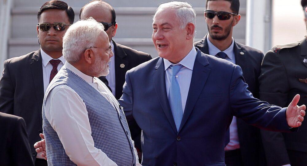 Benjamin Netanyahu et le Premier ministre indien Narendra Modi
