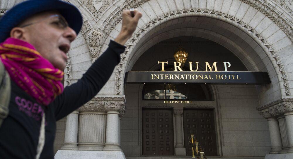 La façade de l'hôtel de Trump. Photo d'archive