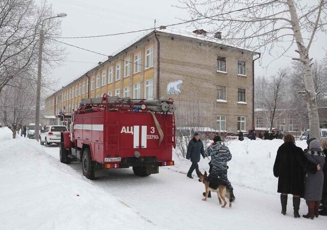 Attaque au couteau dans une école à Perm