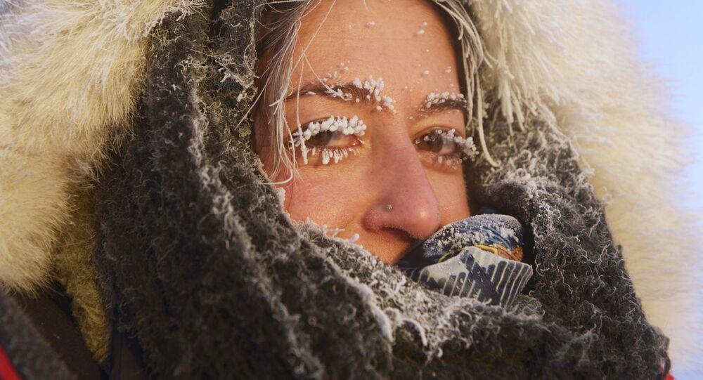 Une touriste allemande à Oïmiakon, en Iakoutie