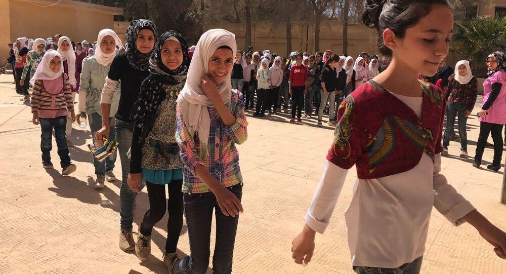 Élèves d'une école de Deir ez-Zor, image d'illustration