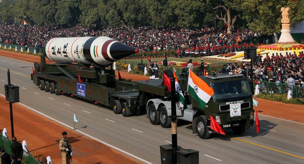 Un missile balistique Agni-V