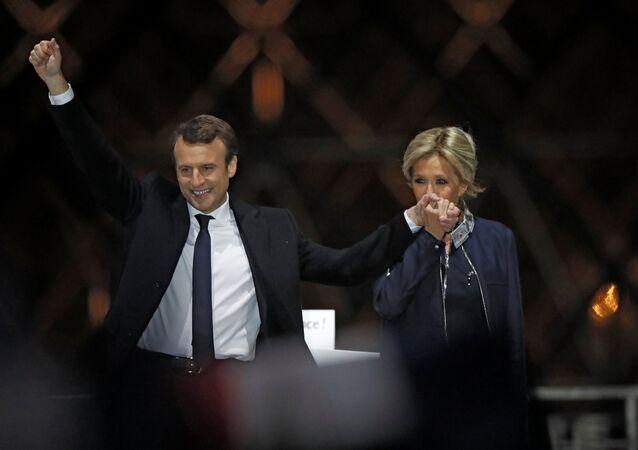 Brigitte et Emmanuel Macron