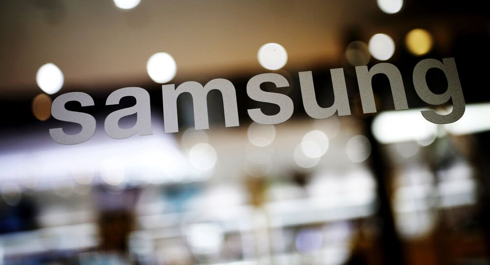 The logo of Samsung Electronic is seen at its headquarters in Seoul, South Korea, in this file photo taken on April 4, 2016.