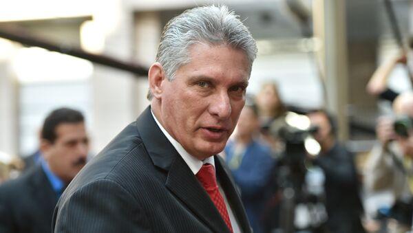 Le premier vice-Président du Conseil d'Etat de Cuba Miguel Diaz-Canel Bermudez - Sputnik France