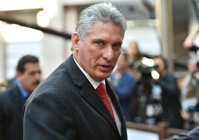 Le premier vice-Président du Conseil d'Etat de Cuba Miguel Diaz-Canel Bermudez