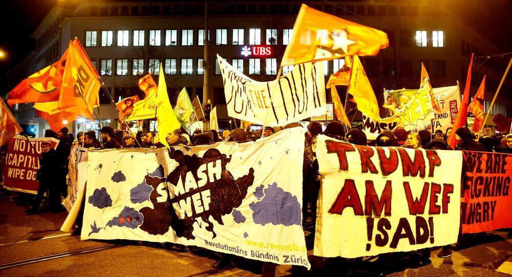Les manifestations anti-Trump à Zurich