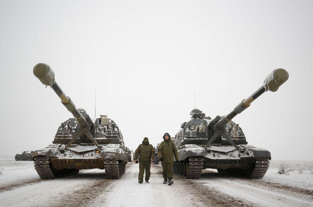 Répétition du défilé consacré au 75e anniversaire de la bataille de Stalingrad