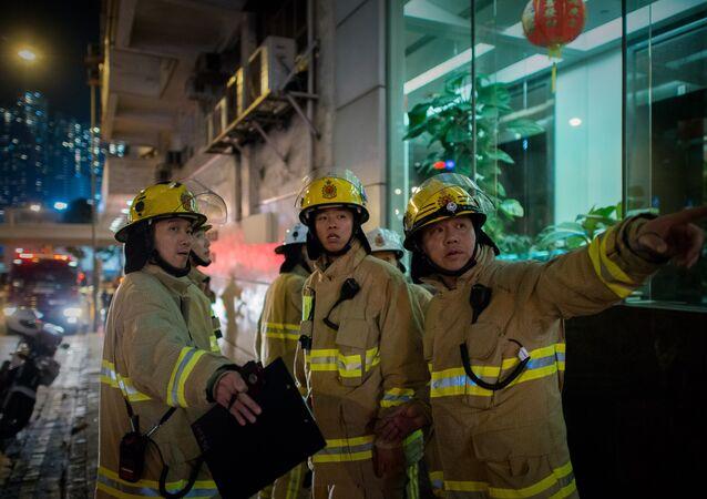Sapeurs-pompiers à Hong Kong (archives)