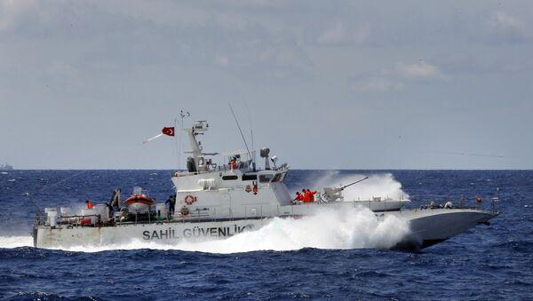 Un navire des gardes-côtes turc - Sputnik France