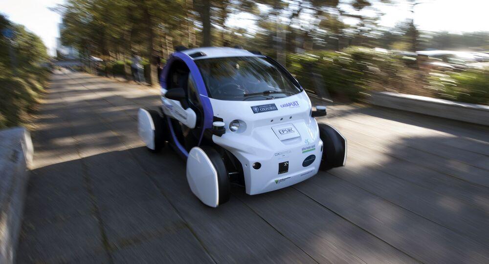 Une voiture sans conducteur