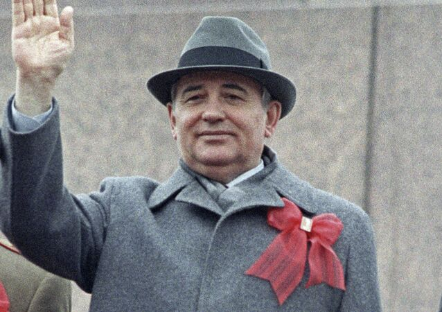 Mikhaïl Gorbatchev sur la place Rouge de Moscou (photo d'archives)