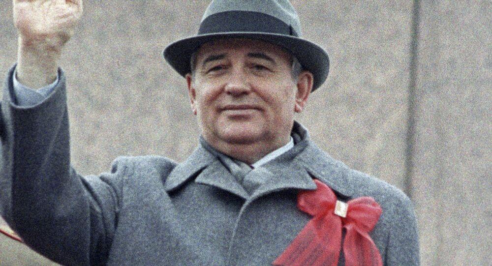 Mikhaïl Gorbatchev sur la place Rouge de Moscou (photo d'archives)