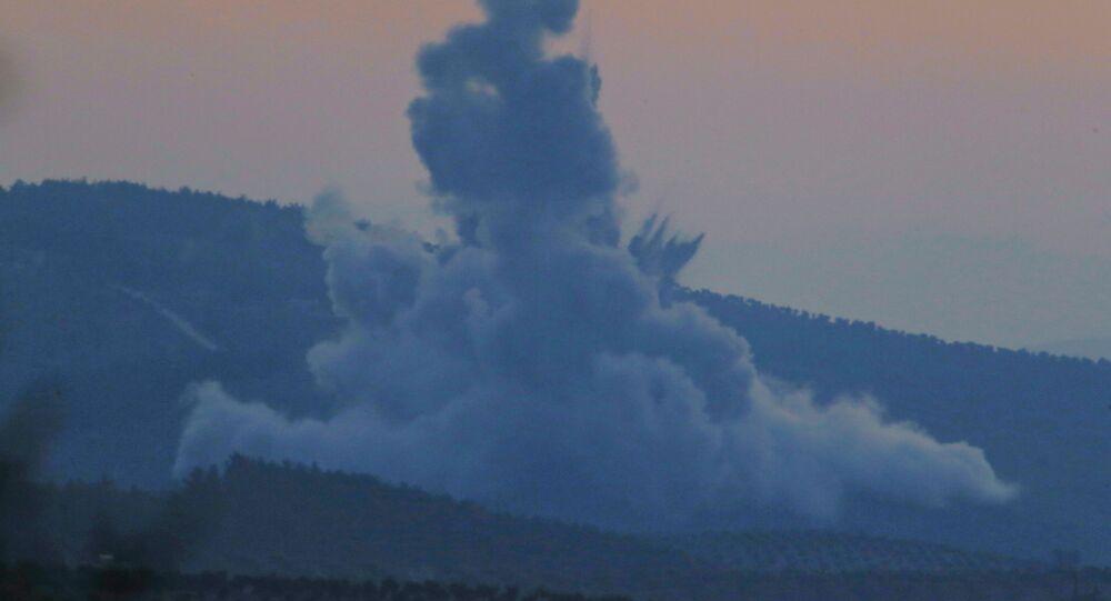 L'aviation turque bombarde le canton d'Afrine, en Syrie. Image d'illustration