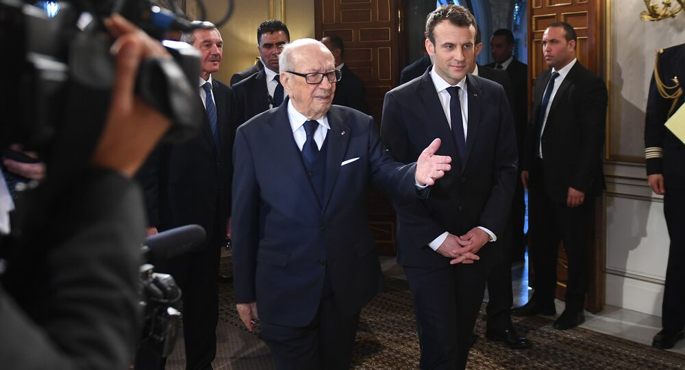 Beji Caïd Essebsi et Emmanuel Macron