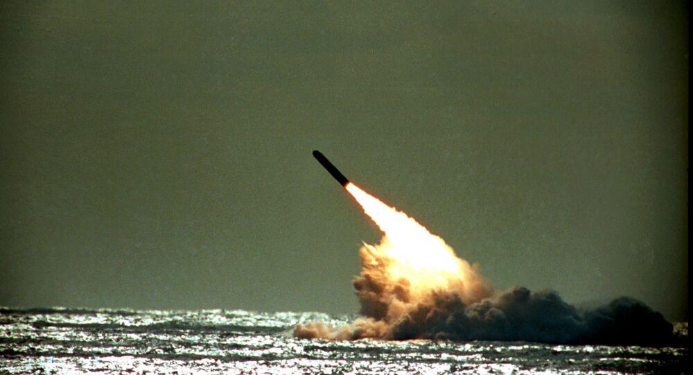 Tir d'un missile américain Trident II (photo d'archives)