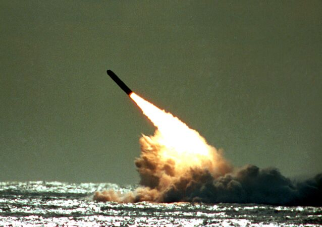 Tir d'un missile américain Trident II (photo d'archives)