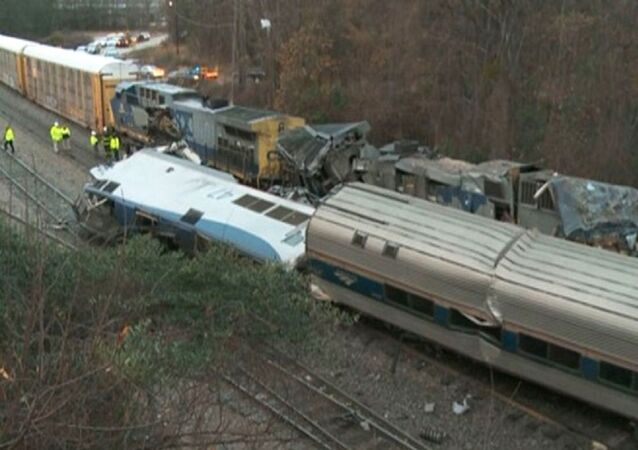 Collision de trains en Caroline du Sud