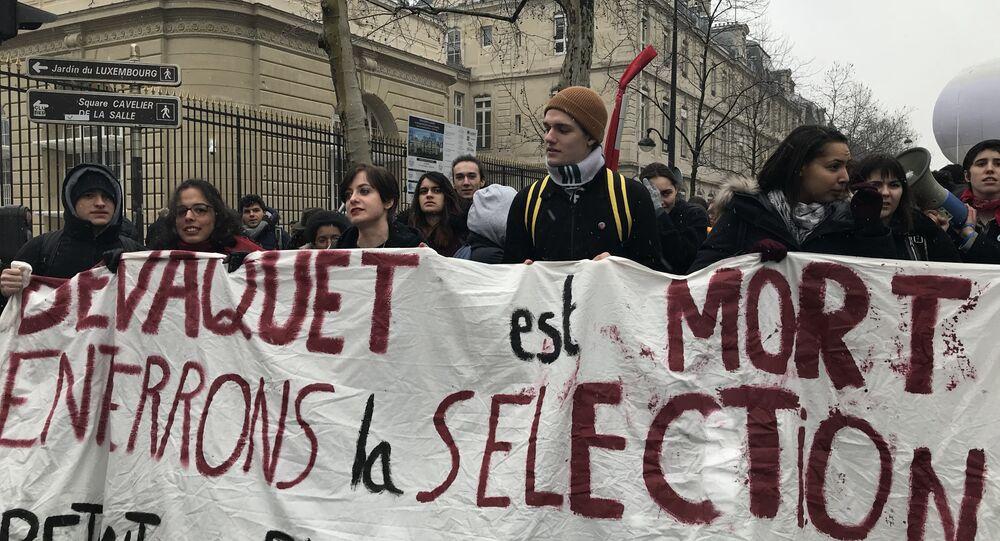 Deuxième manifestation des étudiants contre la réforme universitaire, 6 février 2018