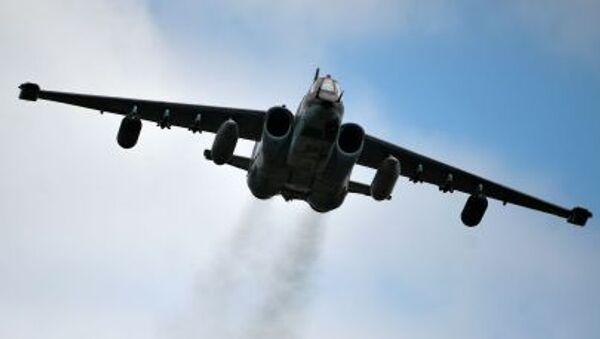 Самолет Су-25 на всероссийском этапе международного конкурса Авиадартс-2015 - Sputnik France