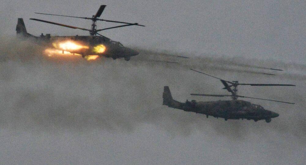Des hélicoptères Ka-52 Alligator