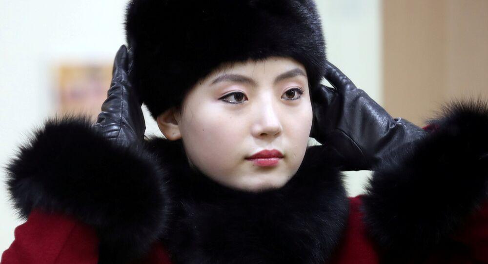 Une pom-pom girl nord-coréenne